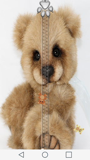 Teddy Bear Zipper Lock Screen