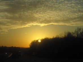 Photo: Sunset on the drive.
