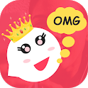 OMG Chat - Meet new people & Video chat strangers icon