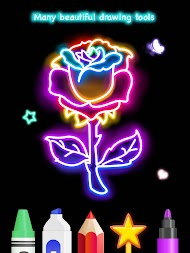 Learn To Draw Glow Flower APK screenshot thumbnail 12