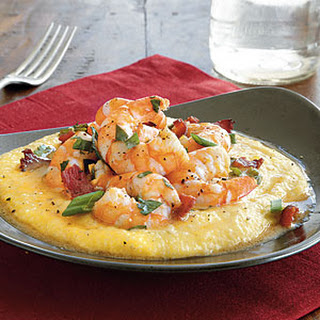 Cheesy Shrimp and Grits.