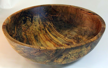 "Photo: Tim Aley 4 1/2"" x 13"" bowl [ambrosia maple]"