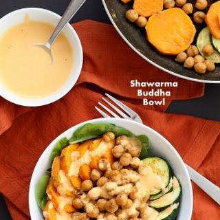 Shawarma Chickpea Sweet Potato Buddha Bowl