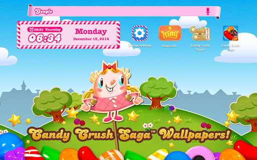 Candy Crush Android Theme Screenshot