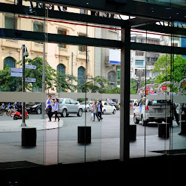 Clear Glass Door by Beh Heng Long - City,  Street & Park  Street Scenes ( doors )