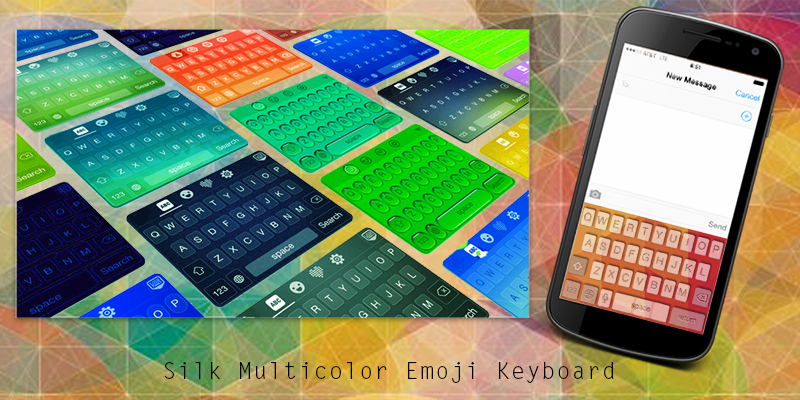 Silk Multicolor Emoji Keyboard- screenshot