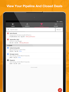 OnePageCRM: Mobile Sales CRM Screenshot