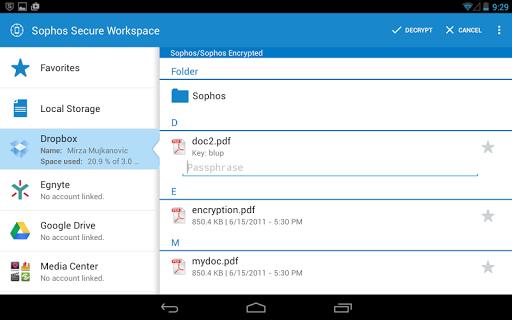 Sophos Mobile Encryption|玩商業App免費|玩APPs