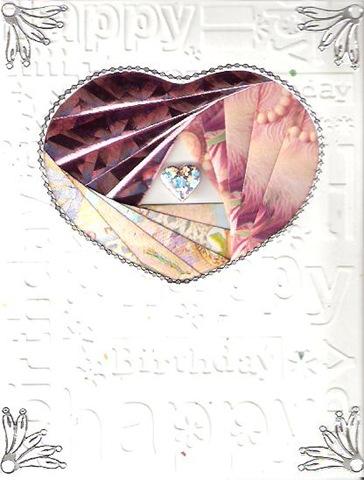 Coluzzle nested heart template; Heart iris fold template; Cuttlebug Happy
