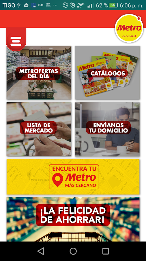 Metro colombia app- screenshot