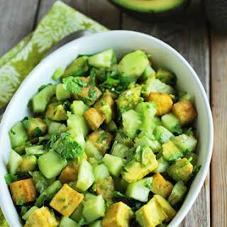 Avocado Tofu Salad.