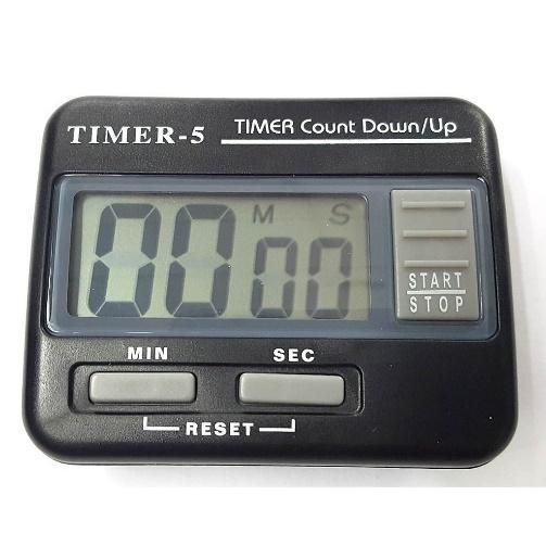 นาฬิกาจับเวลา เดินหน้าถอยหลัง Timer 5 สีดำ จับเวลาได้ 99 นาที  สามารถออกใบกำกับภาษีได้ | Shopee Thailand