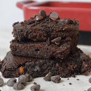 'I Want To Marry You Brownies' aka Chocolate Sweet Potato Brownies.