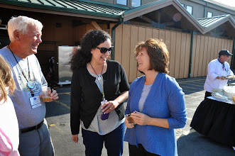 Photo: Mitch meetsLucinda and Terri Porcaro, General Manager at The Mill Casino, Hotel and RV Park
