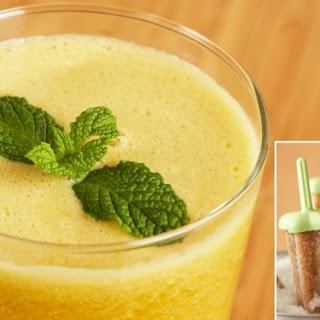 Cantaloupe, Mint, and Mango Juice