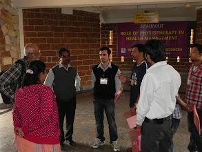 Photo: Dr. Sachin makes us speak to the IHS staff using techniques