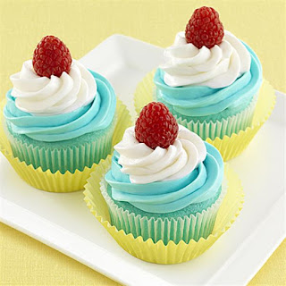 Blue Raspberry Swirled Cupcakes.
