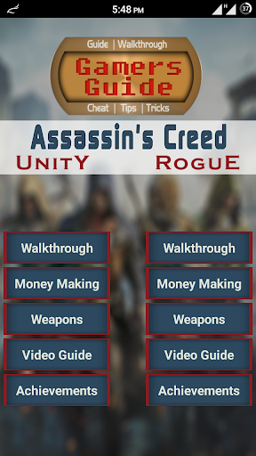Guide for Assassin's Creed U R