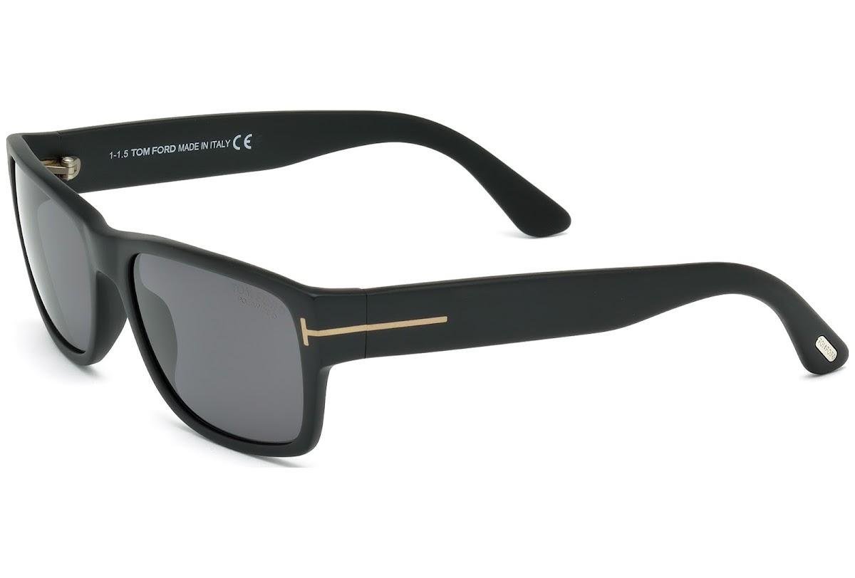 3465117374db Polarized Sunglasses Tom Ford Mason FT0445 C56 02D (matte black   smoke  polarized)