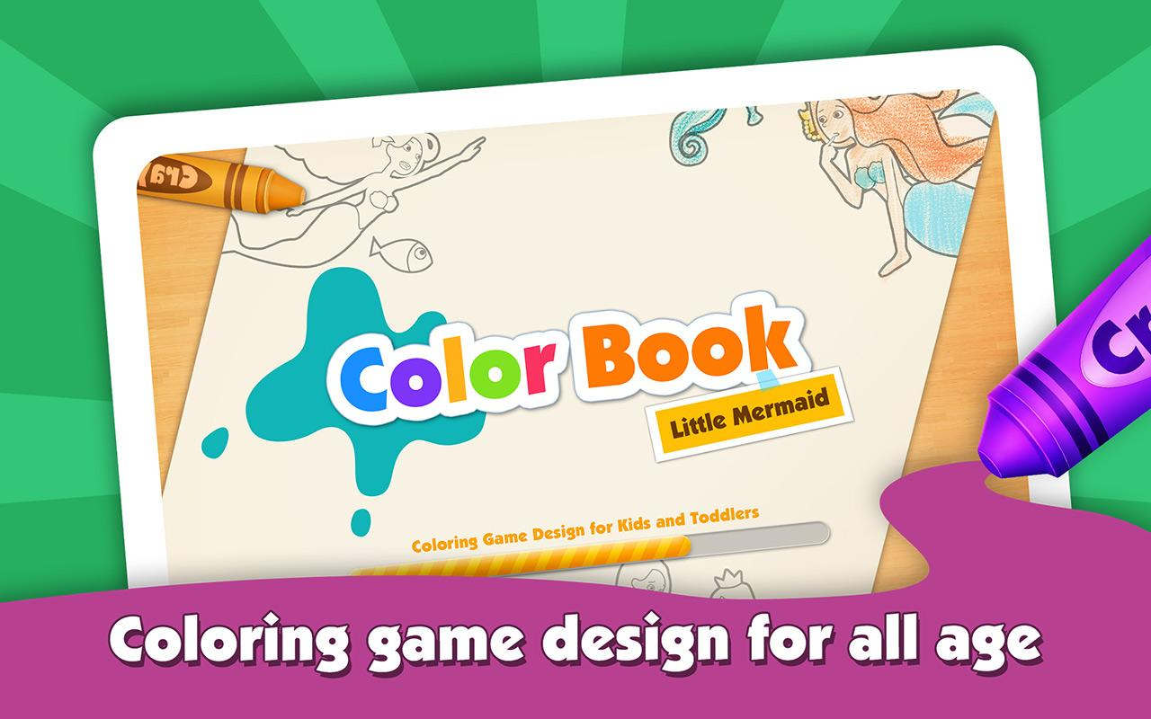 kids color book mermaid story screenshot - Kids Color Book