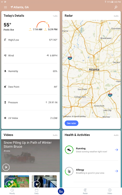 Weather radar and live maps - The Weather Channel on Google