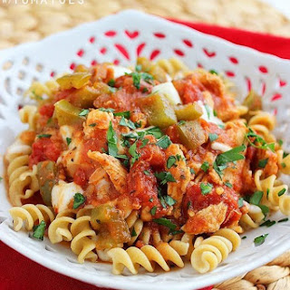 Crock Pot Italian Chicken with Tomatoes.