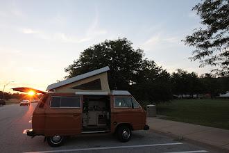 Photo: Sunrise near Kalamazoo MI, on the way to Chicago