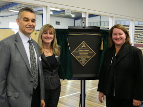 Photo: Opening Doncaster SC sports stadium with Principal Eva McMaster and Peter FitzGibbon