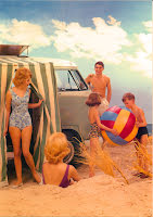 Campingbuss på stranden