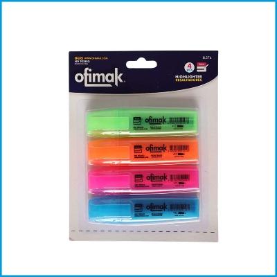 resaltadores ofimak colores varios 4 und