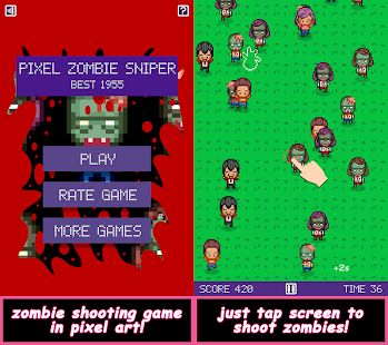 Pixel Zombie Sniper - náhled