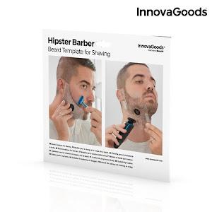 Sablon de barba pentru barbierit, Hipster Barber