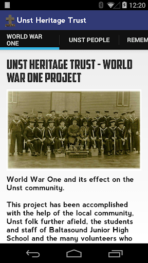 Unst Heritage - World War One