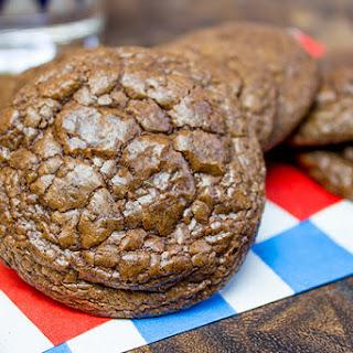 Crinkly Brownie Cookies