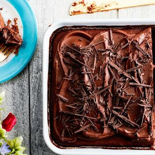 One-Bowl Milk Chocolate Cake with Chocolate-Caramel Frosting Recipe