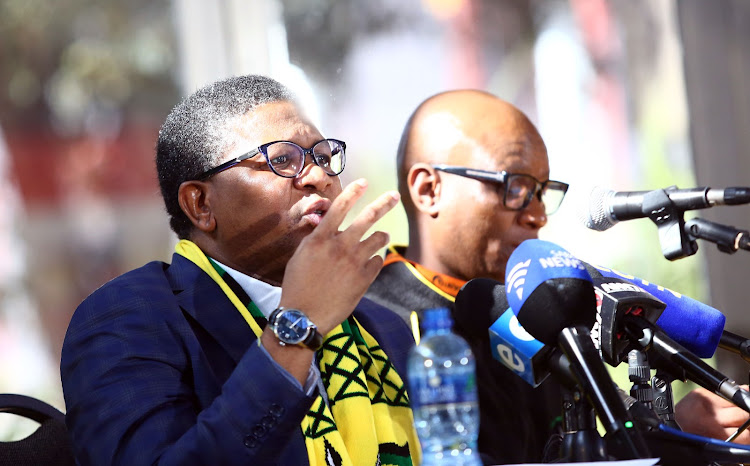 President Cyril Ramaphosa has given the strongest hint yet that Fikile Mbalula (pictured left) could be headed back to the cabinet.