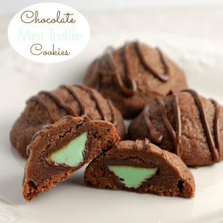 Chocolate Mint Truffle Cookies