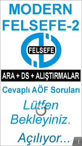 AÖF MODERN FELSEFE-II