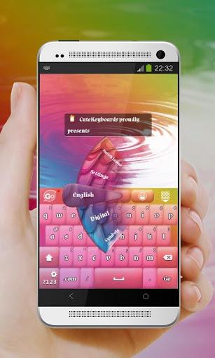 ピーコック色 GO Keyboard