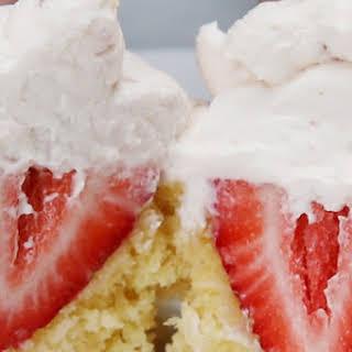 Strawberries and Cream Cupcakes.