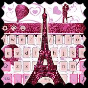 App Eiffel Tower Pink Glitter Paris Keyboard Theme. APK for Windows Phone