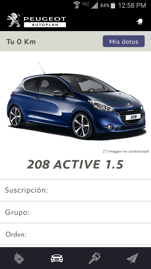 Peugeot Autoplan- screenshot