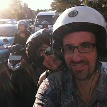Photo: En moto de Seminyak a Tanah Lot.