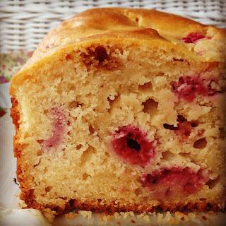 Raspberry & Lemon Yoghurt Loaf.