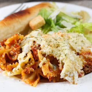 Crock Pot Lasagna Casserole.