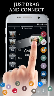 Gloss Black Phone Dialer Theme - náhled