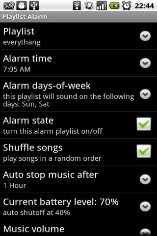 Playlist Alarm screenshot 1
