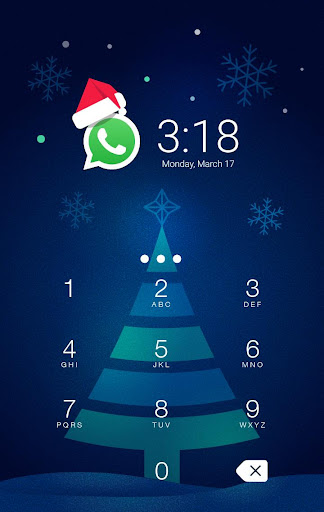 CM AppLock Theme Christmas screenshot 1