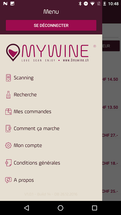 Omywine- screenshot