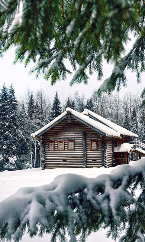 winter cabin wallpaper android apps on google play